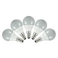 3W E14 / E26/E27 LEDボール型電球 G60 5pcs SMD 2835 200 lm 温白色 / クールホワイト 交流220から240 V 5個