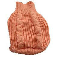 개 스웨터 레드 / 오렌지 / 옐로우 / 블루 / 브라운 / 로즈 강아지 의류 겨울 솔리드