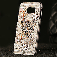 For Samsung Galaxy Case Rhinestone / Transparent Case Back Cover Case 3D Cartoon PC Samsung S6 edge plus / S6 edge / S6