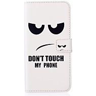 Для Кейс для  Samsung Galaxy Бумажник для карт / Кошелек / со стендом / Флип / Рельефный Кейс для Чехол Кейс для Слова / выражения