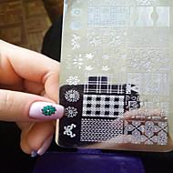 1pcs  New Nail Art Stamping Plates  DIY  Image Templates Tools Nail Beauty XY-J11-16