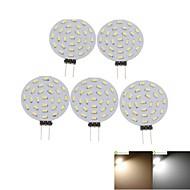 3W G4 LED Σποτάκια MR11 36 SMD 3014 300-380 lm Θερμό Λευκό / Ψυχρό Λευκό Διακοσμητικό DC 12 / AC 12 V 5 τμχ