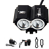 Bike Lights / Headlamps LED 4 Mode 5000 Lumens Waterproof / Rechargeable / Emergency Cree XM-L T6 Cycling Black Aluminum alloy