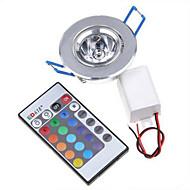 3W תאורת במה לד 240 lm RGB SMD עמעום / עובד עם שלט רחוק / דקורטיבי AC 85-265 V