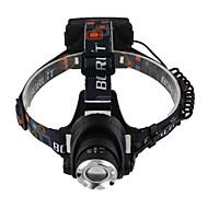 Torce frontali LED 3 Modo 3000 lumens LumensMessa a fuoco regolabile / Impermeabili / Ricaricabile / Resistente agli urti / Strike Bezel