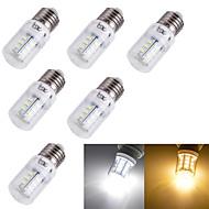 3W E14 / E26/E27 LED-maïslampen T 24 SMD 5730 175 lm Warm wit / Koel wit Decoratief AC 220-240 / AC 110-130 V 6 stuks