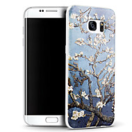 3D Relief Graphic Pattern Fashion Silicone Material Back Cover for Samsung Galaxy S7 edge