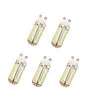 5W G9 LED Corn Lights T 104 SMD 3014 600 lm Warm White / Cool White AC 220-240 V 5 pcs