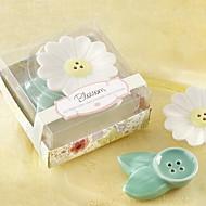 Blossom Ceramic Salt & Pepper Shakers