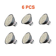 5W GU5.3(MR16) LED-spotlampen MR16 60PCS SMD 3528 280lm lm Warm wit / Koel wit Decoratief AC 220-240 V 6 stuks