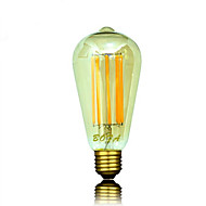 E26 E27 B22 110V 220V ST64 2200K-3000K 450-650lm 8W 8LED Light Bulb Edison