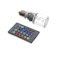 3W LED Corn Lights T 1 130-160 lm RGB Remote-Controlled AC 220-240 V
