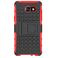 dekt zachte siliconen hard plastic hoes voor de Samsung Galaxy A3 / A5 / A7 (2016) case houder stand telefoon geval