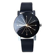 Damen Modeuhr Quartz Armbanduhren für den Alltag Leder Band Schwarz / Weiß / Blau / Rot / Braun / Rosa Marke-