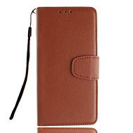 Mert Samsung Galaxy tok Kártyatartó / Állvánnyal / Flip Case Teljes védelem Case Egyszínű Műbőr SamsungTrend Duos / Grand Prime / E5 /