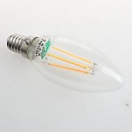 4W E26/E27 Luces LED en Vela C35 4 COB 380 lm Blanco Cálido Decorativa AC 100-240 V 1 pieza