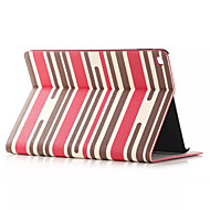 Folio Case Colorful Stripe Pattern Smart PU Leather Cover Stand Case for iPad Air 2 iPad 6 Card Slot