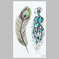 mode tattoo pauwenveer waterdichte tattoo stickers