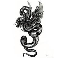 Naklejki z tatuażem Seria zwierzęca Duży rozmiar Dolna część pleców Waterproof Męskie Dorosły Boy Dla nastolatków Tattoo FlashTatuaże