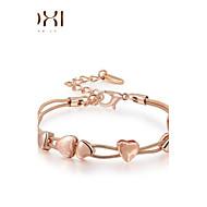 Dame Kæde & Lænkearmbånd Charm-armbånd Unikt design Kærlighed Mode Krystal Legering Hjerteformet Smykker Smykker Til Bryllup Fest Daglig