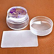 Lovely Design Matte Nail Art Stamper Scraper with Cap Silicone Jelly 3.5cm Nail Stamp Stamping Tools