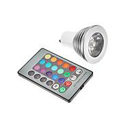 gu10 3w RGB LED del bulbo del punto (85-265v)
