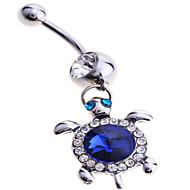 Dame Kropssmykker Navleringe Sølv Imitation Diamond Unikt design Mode Smykker Blå Smykker Daglig Afslappet 1 Stk.