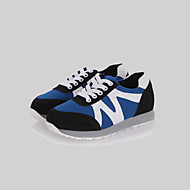 Women's Shoes Leatherette Flat Heel Round Toe Fashion Sneakers Outdoor / Casual / Athletic Black / Blue / White