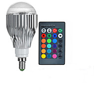 10W E14 Bulb LED Glob A50 1 LED Putere Mare 600-800 lm RGB Telecomandă AC 85-265 V 1 bc