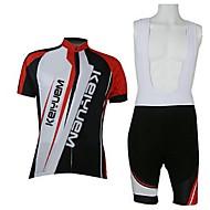 KEIYUEM Fietsen/Wielrennen Fietsbroeken/Broekje / Shirt / Pakken/Kledingsets Unisex Korte MouwAdemend / Sneldrogend / Stofbestendig /
