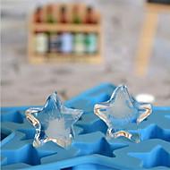 DIY kotitekoinen jään muotti pentagrammi satunnainen väri