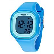 SYNOKE Dziecięce Zegarek na nadgarstek Kwarcowy LCD Kalendarz Chronograf Wodoszczelny alarm Świecący Plastic Pasmo Czarny Biały Niebieski