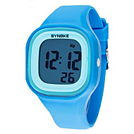 SYNOKE Kinderen Polshorloge Kwarts LCD Kalender Chronograaf Waterbestendig alarm Lichtgevend Plastic Band Zwart Wit Blauw