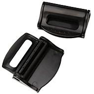 ziqiao 1 par de cinturones de seguridad del coche clip de tope ajustable clip de hebilla de plástico de seguridad