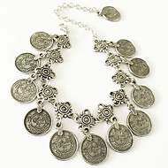 Dames Enkelring /Armbanden Legering Uniek ontwerp Modieus Vintage Bohemia Style Gesneden Bloemvorm Sieraden Zilver Vrouwen SieradenFeest