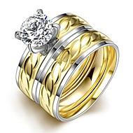 指輪,スチール 愛らしいです / タッセル / ファッション / ボヘミアスタイル / パンクスタイル / 調整可能 結婚式 / パーティー / 日常 / カジュアル / スポーツ ジュエリー バンドリング / ステートメントリング 1個,6 / 7 / 8 / 9
