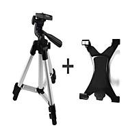 hliníkové slitiny stativ s 1/4 '' šroubem + ipad svorky + telefonní svorkou pro fotoaparát nebo telefon a počítač, webová kamera