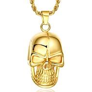 Férfi Nyaklánc medálok Függők Skull shape Arannyal bevont 18K arany Punk stílus Európai Ékszerek Kompatibilitás Parti Napi Hétköznapi