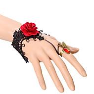 Brățări Ring Bracelets Dantelă Petrecere / Zilnic / Casual Bijuterii Cadou Negru,1 buc