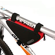 ROSWHEEL® 자전거 가방 1.5L자전거 프레임 백 방수 지퍼 / 방습 / 충격방지 / 착용할 수 있는 싸이클 가방 PVC / 600D 폴리에스터 싸이클 백 사이클링 27*12*6