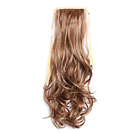 Flaxen and Golden Length 50CM Synthetic Curly Hair Wig Horsetail Melange Belt Type(Color 30B/613)