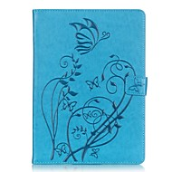 PU leather Material Butterfly Pattern Plate Embossing Protective Case for for iPad Pro 9.7