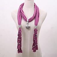 vrouwen hanger ketting viscose sjaal