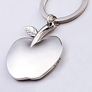 forma de metal prata brinquedos chaveiro maçã