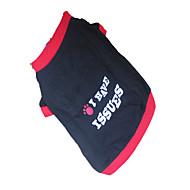 개 티셔츠 블랙 강아지 의류 여름 캐릭터 / 문자와 숫자
