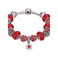 Γυναικεία Κοριτσίστικα Βραχιόλια με Φυλαχτά Βραχιόλια Χειροπέδες Βραχιόλια Βραχιόλια Strand Silver Bracelets Κρυστάλλινο Ανθεκτικό