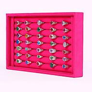 Juwelendoosjes / Juwelenstandaarden Nylon 1 stuks Roos / Zwart-Wit