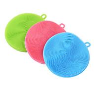 siliconen schotel spons scrubber zachte reiniging antibacteriële borstel keukengereedschap (willekeurige kleur)