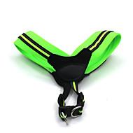 猫用品 犬用品 ハーネス 反射 調整可能/引き込み式 安全用具 ソフト パッド入り 純色 グリーン ローズピンク ナイロン