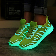 Women's New LED Shoes Comfort / Round Toe / Flats Sneakers / Outdoor & Casual / Black / Blue / Green